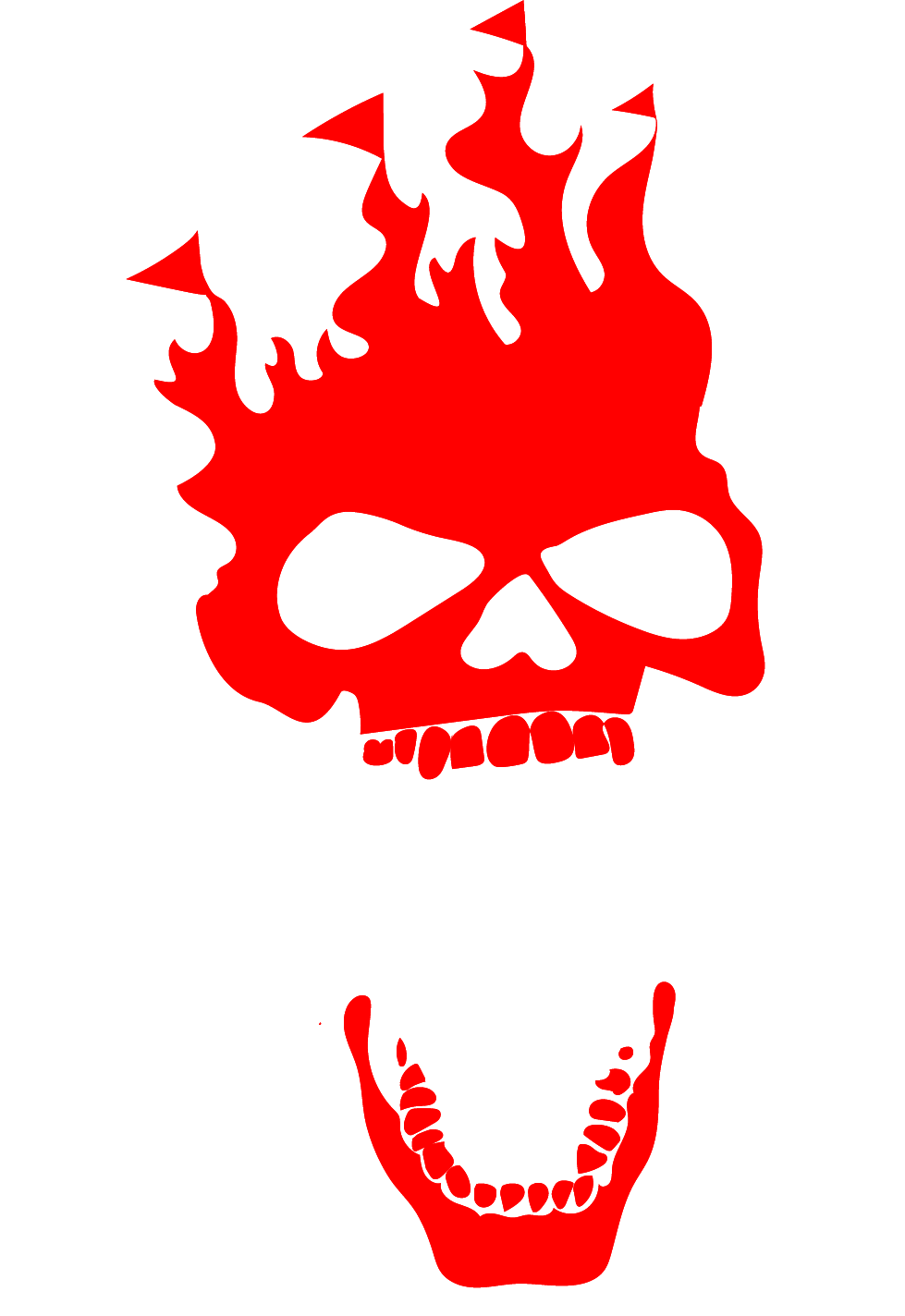 """This is the logo for Purgatory Scream Park Haunted House in Houston Texas. It shows a Red skull with flag tipped flames emanating from the top of the head. The mouth is open and the words """"Purgatory Scream Park"""" in white are between the jaws of the skull."""